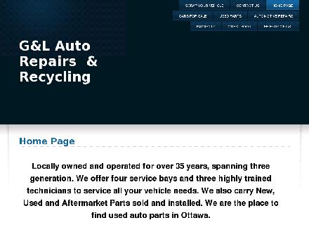 G And L Auto (613-824-4985) - Onglet de site Web - http://www.glauto.ca