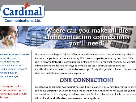 Cardinal Communications Ltd (403-213-9162) - Onglet de site Web - http://www.cardinalcomm.com