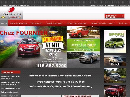 Fournier Chevrolet Buick GMC Cadillac (418-687-5200) - Onglet de site Web - http://www.fournierchevrolet.com
