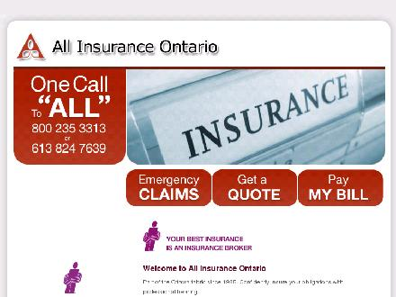 All Insurance Ontario Limited (613-860-6008) - Website thumbnail - http://www.allins.ca