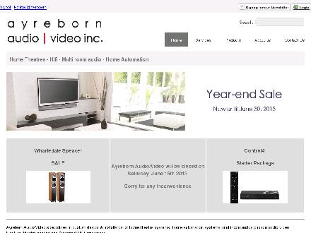 Ayreborn Audio-Video Inc (604-536-5252) - Onglet de site Web - http://www.ayreborn.com