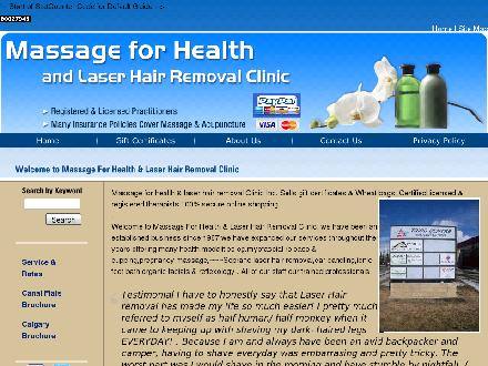 Soprano Laser Hair Removal (403-225-0763) - Onglet de site Web - http://www.massage4health.ca