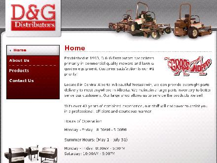 D & G Distributors (780-352-0255) - Website thumbnail - http://www.dgdist.com