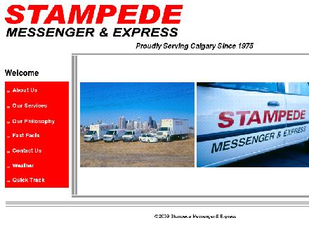 Stampede Messenger &amp; Express (403-253-1181) - Website thumbnail - http://www.mystampede.com