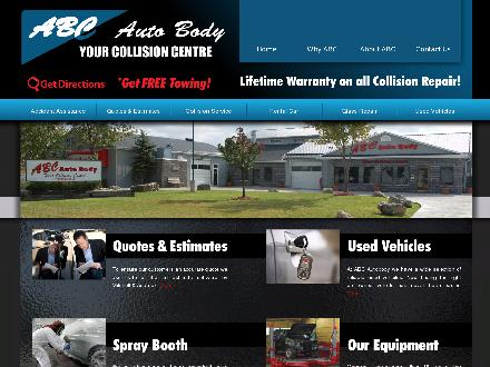 A B C Auto Body (905-692-4495) - Website thumbnail - http://www.abcautobody.net