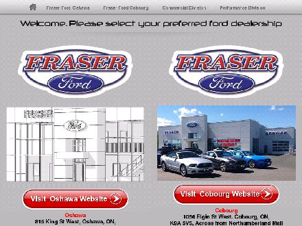 Fraser Ford Sales Limited (289-274-0516) - Website thumbnail - http://Fraserford.ca
