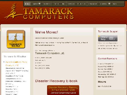 Tamarack Computers (867-920-4380) - Onglet de site Web - http://www.tamarack.nt.ca