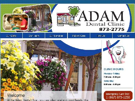 Adam Dental Clinic (867-873-2775) - Onglet de site Web - http://www.adamdentalclinic.ca