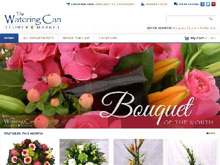 The Watering Can Flower Market (905-704-0088) - Website thumbnail - http://www.thewateringcan.ca