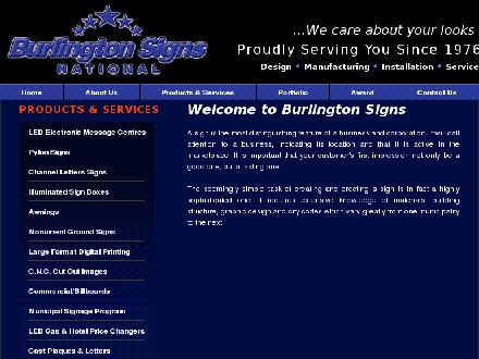 Burlington Signs National (905-335-6515) - Onglet de site Web - http://www.burlingtonsigns.com