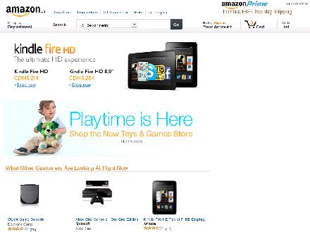 amazon.ca - Website thumbnail - http://www.amazon.ca/exec/obidos/redirect?tag=yellowpagesca-20