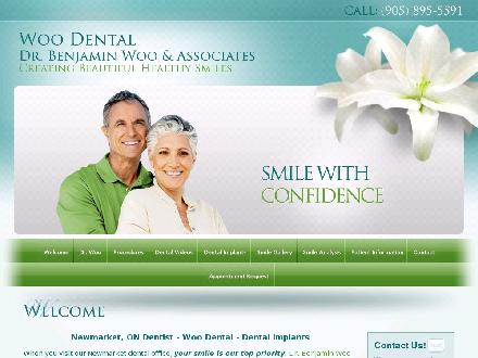 Woo Benjamin Dr Dentistry Professional Corporation (905-895-5591) - Onglet de site Web - http://www.woodental.com
