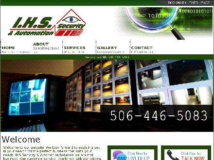 IHS Security & Automation (506-446-5083) - Onglet de site Web - http://www.ihssecurity.com