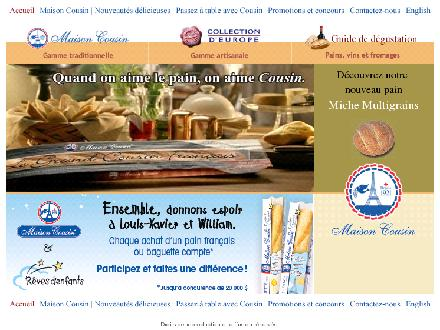 Maison-Cousin.com - Onglet de site Web - http://www.maison-cousin.com