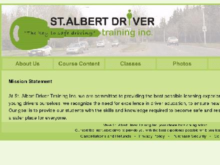 St Albert Driver Training Inc (780-470-3748) - Onglet de site Web - http://www.stalbertdrivertraining.com