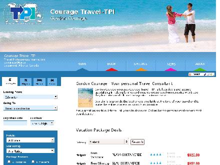 Courage Travel -TPI (780-737-5885) - Website thumbnail - http://www.couragetravel.ca