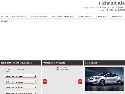 Fichault Kia (450-692-6795) - Onglet de site Web - http://www.fichaultkia.com