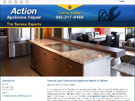 Action Refrigeration (613-247-0469) - Onglet de site Web - http://actionappliancerepair.ca