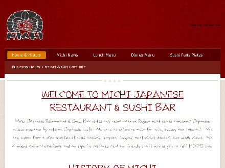 Michi Japanese Restaurant & Sushi Bar (306-565-0141) - Onglet de site Web - http://www.michi.ca