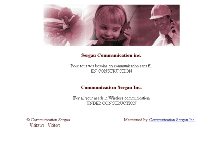 Communication Sergau (819-669-4151) - Onglet de site Web - http://www.sergau.com