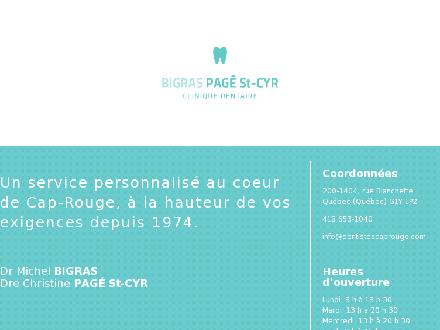 Clinique dentaire Bigras Pagé St-Cyr (418-653-1040) - Website thumbnail - http://www.dentistescaprouge.com