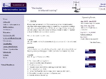 Foundation Of Administrative Justice (780-466-0501) - Onglet de site Web - http://www.foaj.ca