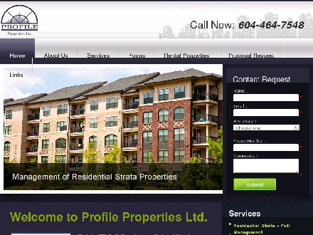 Profile Properties Ltd (604-464-7548) - Onglet de site Web - http://www.profile-properties.com