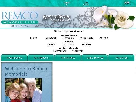 Remco Memorials Ltd (403-276-5649) - Onglet de site Web - http://www.remco-memorials.ca