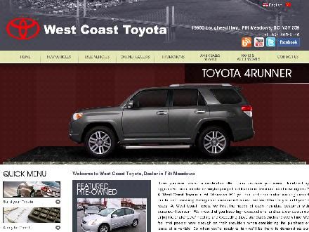West Coast Toyota (604-465-9146) - Onglet de site Web - http://www.westcoasttoyota.com/en/index.spy