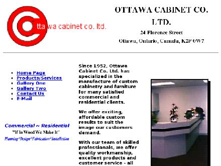 Ottawa Cabinet Co Ltd (613-234-0552) - Onglet de site Web - http://www.ottawacabinet.on.ca