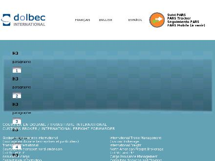 Dolbec International inc (418-688-9115) - Onglet de site Web - http://www.dolbec-intl.ca
