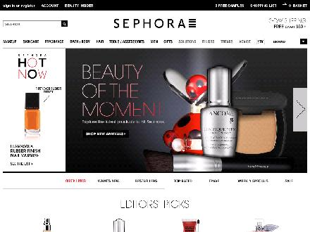 Sephora.com - Onglet de site Web - http://www.sephora.com