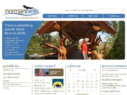 Community Governments - Facilities and Programs - Onglet de site Web - http://www.normanwells.com