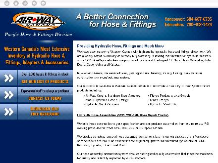 Pacific Hose & Fittings (780-462-7424) - Website thumbnail - http://www.pacifichose.com