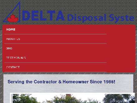 Delta Disposal Systems Ltd (416-421-9227) - Onglet de site Web - http://deltadisposal.ca/