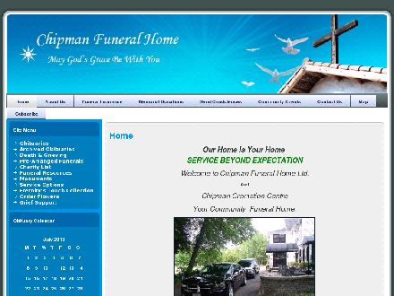 Chipman Funeral Home Ltd (506-339-6612) - Website thumbnail - http://www.chipmanfuneralhome.ca