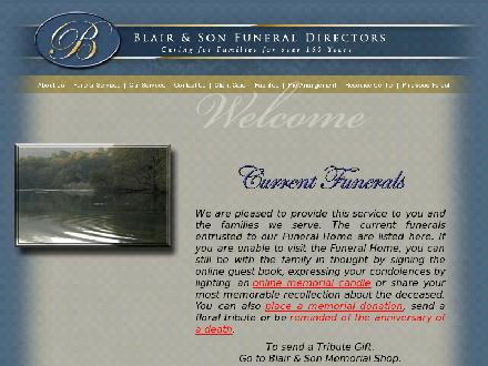 Blair & Son Funeral Home (613-267-3765) - Website thumbnail - http://www.blairandson.com
