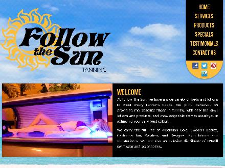 Follow The Sun Tanning Salon &amp; Spray Tanning (905-427-2023) - Onglet de site Web - http://www.followthesuntanning.ca
