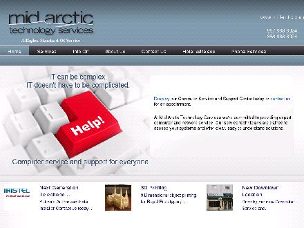 Mid Arctic Technology Services (867-668-6024) - Website thumbnail - http://www.midarctic.com