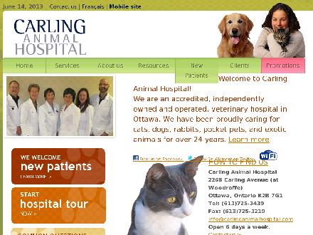 Carling Animal Hospital (613-725-3439) - Website thumbnail - http://www.carlinganimalhospital.com