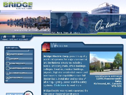 Bridge Electric Corp (604-273-2744) - Onglet de site Web - http://www.bridgeelectric.com