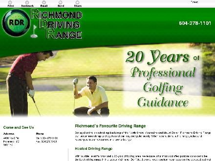 Richmond Driving Range (604-278-1101) - Onglet de site Web - http://richmonddrivingrange.com/
