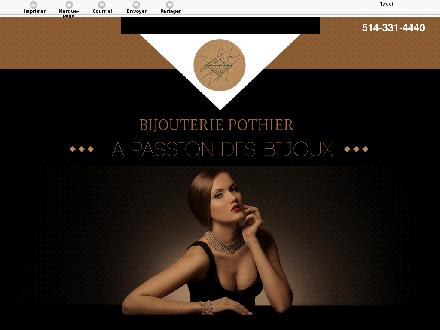 Bijouterie Pothier Enr (514-331-4440) - Website thumbnail - http://bijouteriepothier.ca