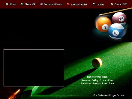 VIP Lounge & Billiards Club (416-977-1011) - Onglet de site Web - http://www.vipbilliardsclub.com