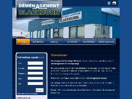 Déménagement Avantage Blackburn Inc (418-543-6090) - Onglet de site Web - http://www.demenagementblackburn.com