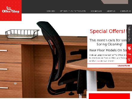 The Office Shop Inc (905-305-9955) - Onglet de site Web - http://www.theofficeshop.ca