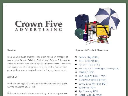Crown Five Advertising (709-364-3931) - Onglet de site Web - http://www.crownfiveadvertising.com