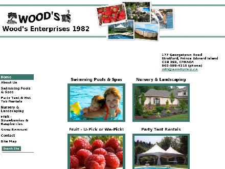 Wood's Swimming Pools & Spas Nursery & Landscaping (902-569-4215) - Onglet de site Web - http://www.woodgroup.ca