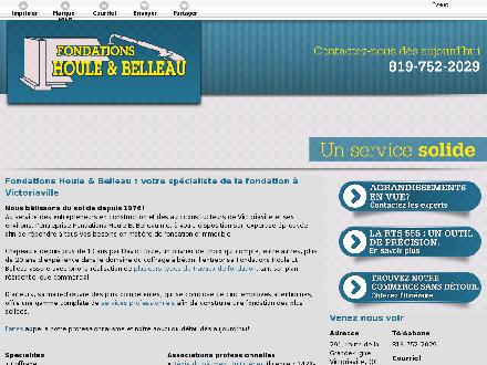 Fondations Houle Et Belleau Inc (819-752-2029) - Website thumbnail - http://fondationshoulebelleau.ca/