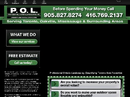 Professional Ontario Landscaping Inc (416-769-2137) - Onglet de site Web - http://professionalontariolandscaping.ca